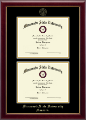 Minnesota State University, Mankato Diploma Frame - Double Document Diploma Frame in Gallery