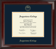 Augustana College Illinois Diploma Frame - Gold Embossed Diploma Frame in Encore