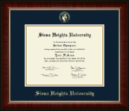 Siena Heights University Diploma Frame - Gold Embossed Diploma Frame in Murano