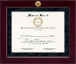 Mortar Board National College Senior Honor Society Certificate Frame - Millennium Gold Engraved Certificate Frame in Cordova