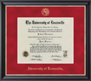 University of Louisville Diploma Frame - Gold Embossed Diploma Frame in Noir