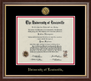 University of Louisville Diploma Frame - Gold Engraved Medallion Diploma Frame in Hampshire