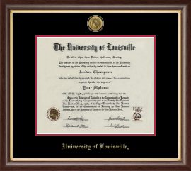 university of louisville diploma frame gold engraved medallion diploma frame in hampshire - Dual Diploma Frame