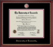 University of Louisville Diploma Frame - Masterpiece Medallion Diploma Frame in Kensington Gold