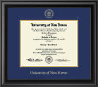 University of New Haven Diploma Frame - Gold Embossed Diploma Frame in Midnight