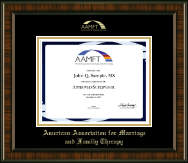American Association for Marriage and Family Therapy Certificate Frame - Gold Embossed Certificate Frame in Brentwood