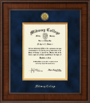 Midway College Diploma Frame - Presidential Gold Engraved Diploma Frame in Madison