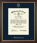 Midway College Diploma Frame - Gold Embossed Diploma Frame in Studio Gold