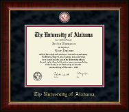 The University of Alabama Tuscaloosa Diploma Frame - Crimson Masterpiece Medallion Diploma Frame in Murano