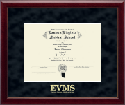 Eastern Virginia Medical School Diploma Frame - Gold Embossed Diploma Frame in Gallery