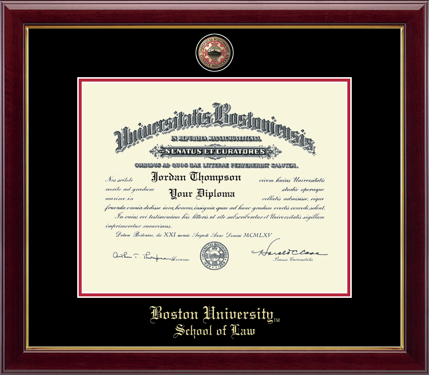 Boston University Masterpiece Medallion Diploma Frame In