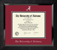 The University of Alabama Tuscaloosa Diploma Frame - Silver Embossed Diploma Frame in Eclipse