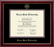 Texas State University Diploma Frame - Gold Embossed Diploma Frame in Gallery