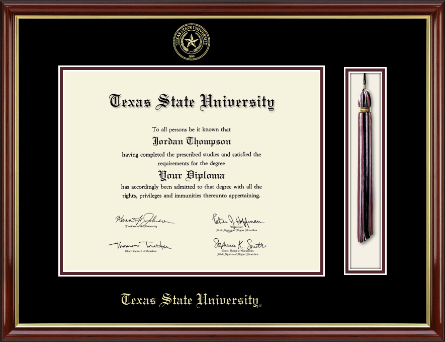 Texas State University Tassel Edition Diploma Frame in Southport ...