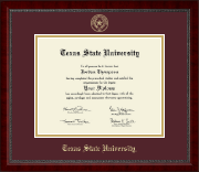 Texas State University Diploma Frame - Gold Embossed Diploma Frame in Sutton