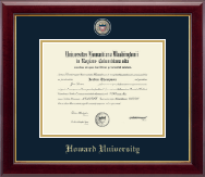 Howard University Diploma Frame - Masterpiece Medallion Diploma Frame in Gallery