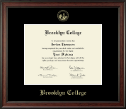 Brooklyn College Diploma Frame - Gold Embossed Diploma Frame in Studio