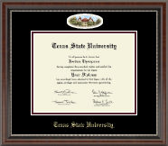 Texas State University Diploma Frame - Campus Cameo Diploma Frame in Chateau