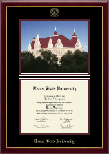 Texas State University Diploma Frame - Campus Scene Edition Diploma Frame in Gallery