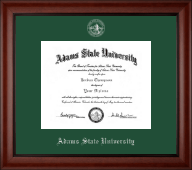 Adams State University  Diploma Frame - Silver Embossed Diploma Frame in Cambridge