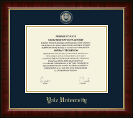 Yale University Diploma Frame - Masterpiece Medallion Diploma Frame in Murano