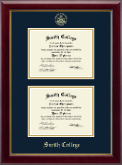 Smith College Diploma Frame - Double Document Diploma Frame in Gallery