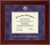 University of Bridgeport Diploma Frame - Presidential Silver Engraved Diploma Frame in Jefferson