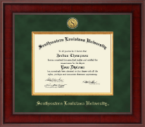 Southeastern Louisiana University Diploma Frame - Presidential Gold Engraved Diploma Frame in Jefferson