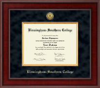 Birmingham-Southern College Diploma Frame - Presidential Gold Engraved Diploma Frame in Jefferson