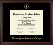 Birmingham-Southern College Diploma Frame - Gold Embossed Diploma Frame in Studio Gold