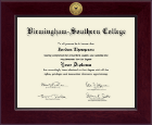 Birmingham-Southern College Diploma Frame - Century Gold Engraved Diploma Frame in Cordova