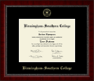 Birmingham-Southern College Diploma Frame - Gold Embossed Diploma Frame in Sutton