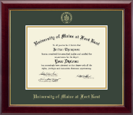 University of Maine Fort Kent Diploma Frame - Gold Embossed Diploma Frame in Gallery