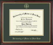 University of Maine Fort Kent Diploma Frame - Gold Embossed Diploma Frame in Studio Gold