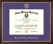 James Madison University Diploma Frame - Gold Embossed Diploma Frame in Studio Gold