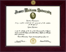 James Madison University Diploma Frame - Century Gold Engraved Diploma Frame in Cordova