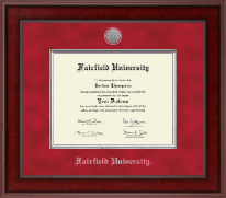 Fairfield University Diploma Frame - Presidential Silver Engraved Diploma Frame in Jefferson