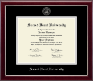 Sacred Heart University Diploma Frame - Silver Embossed Diploma Frame in Gallery Silver