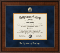 Gettysburg College Diploma Frame - Presidential Masterpiece Diploma Frame in Madison