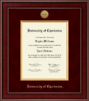 University of Charleston Diploma Frame - Presidential Gold Engraved Diploma Frame in Jefferson