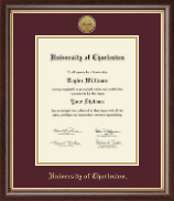 University of Charleston Diploma Frame - Gold Engraved Medallion Diploma Frame in Prescott