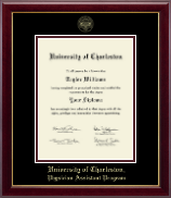 University of Charleston Diploma Frame - Gold Embossed Diploma Frame in Gallery