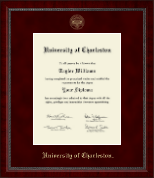 University of Charleston Diploma Frame - Gold Embossed Diploma Frame in Sutton