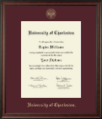 University of Charleston Diploma Frame - Gold Embossed Diploma Frame in Studio