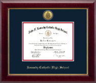 Kennedy Catholic High School in Somers, NY Diploma Frame - Gold Engraved Medallion Diploma Frame in Gallery