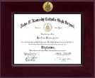 Kennedy Catholic High School in Somers, NY Diploma Frame - Century Gold Engraved Diploma Frame in Cordova