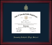 Kennedy Catholic High School in Somers, NY Diploma Frame - Gold Embossed Achievement Edition Diploma Frame in Academy