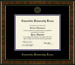 Concordia University Texas Diploma Frame - Gold Embossed Diploma Frame in Brentwood