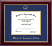 Manchester Community College Diploma Frame - Gold Embossed Diploma Frame in Gallery
