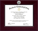 Manchester Community College Diploma Frame - Century Silver Engraved Diploma Frame in Cordova
